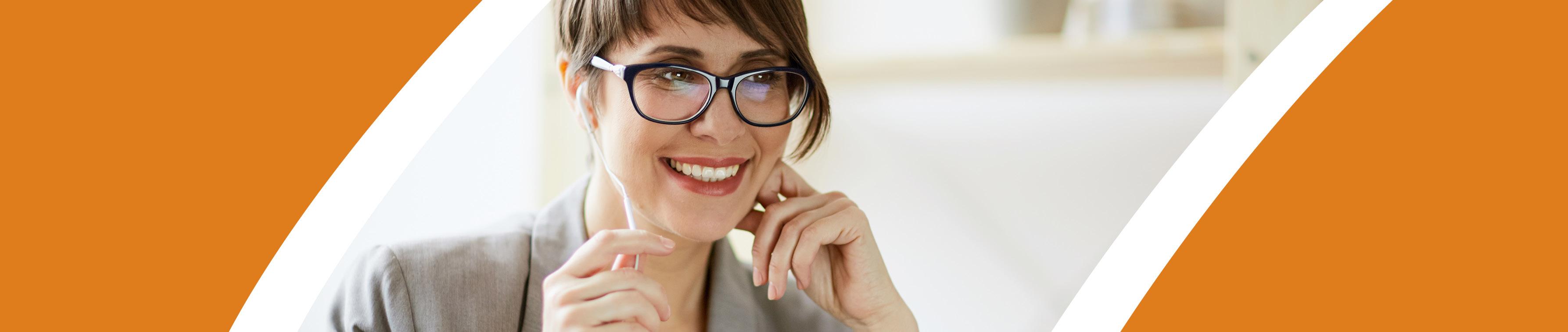 Woman smiling header image