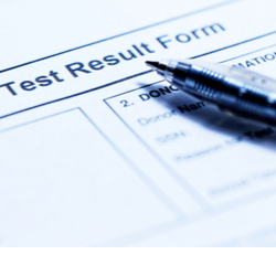 Test result form